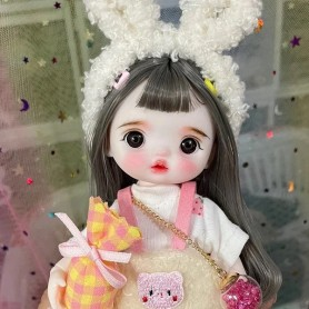 LOVELY CHIPIE MISCHIEF DOLL 16 CM FULLY ARTICULATED + OUTFIT + WIG + SHOES LATI YELLOW SIZE
