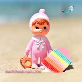 POUPÉE 20 CM CHARMY DOLL JOUET VINTAGE KAWAII ROSE DECORATION CHAMBRE ENFANT DIORAMA