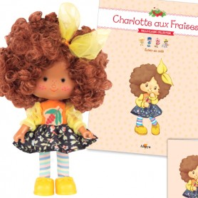 COFFEE ECLAIR 44 + BOOK + CARD STRAWBERRY SHORTCAKE SCENTED DOLL CHARLOTTE AUX FRAISES DESIGN 1980