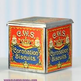 VINTAGE COOKIE BOX MINIATURE LATI YELLOW BARBIE FASHION ROYALTY BLYTHE PULLIP DIORAMA 1:6 1:12