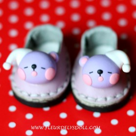 LEATHER KAWAII SHOES FOR BJD DOLL MEADOWDOLLS TWINKLES LATI YELLOW PUKIFEE AND OTHER SMALL SAME SIZE FOOT
