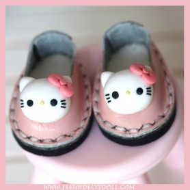 LEATHER HELLO KITTY SHOES FOR BJD DOLL MEADOWDOLLS TWINKLES LATI YELLOW PUKIFEE AND OTHER SMALL SAME SIZE FOOT