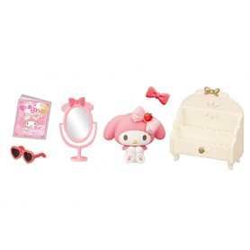 BEDROOM ACCESSORIES MY MELODY REMENT RE-MENT MINIATURE DOLL DIORAMA BARBIE BLYTHE PULLIP NENDOROID OB11 STODOLL