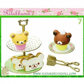 BRITISH TEA TIME CUPCAKES AND SANDWICHES REMENT RE-MENT MINIATURE DOLL DIORAMA BARBIE BLYTHE PULLIP NENDOROID OB11 STODOLL