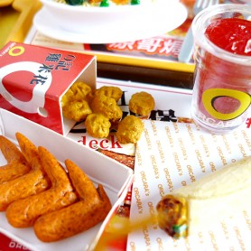 MAC DO MEAL TRAY MINIATURE FAST FOOD RE-MENT DOLL MINIATURE DOLL DIORAMA BARBIE BLYTHE PULLIP NENDOROID OB11 STODOLL
