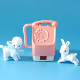 TELEPHONE PUBLIC ROSE VINTAGE RE-MENT MINIATURE POUPÉE BARBIE BJD BLYTHE PULLIP DIORAMAS PLAYSCALE DOLLHOUSE