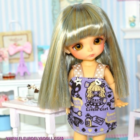DUO BLUE MOHAIR WIG FOR LATI YELLOW PUKIFEE BJD 5/6