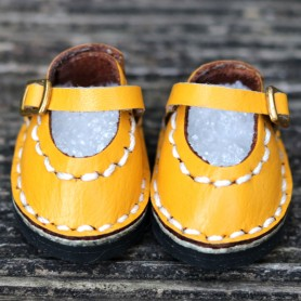 CHAUSSURES MARY JANE ROSE CUIR JAUNE MOUTARDE POUR POUPÉE BJD DOLL MEADOWDOLLS TWINKLES LATI YELLOW PUKIFEE ...
