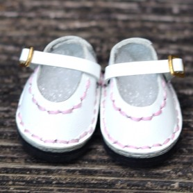 CHAUSSURES MARY JANE ROSE CUIR BLANC & ROSE POUR POUPÉE BJD DOLL MEADOWDOLLS TWINKLES LATI YELLOW PUKIFEE ...