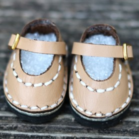CHAUSSURES MARY JANE ROSE CUIR BEIGE POUR POUPÉE BJD DOLL MEADOWDOLLS TWINKLES LATI YELLOW PUKIFEE ...