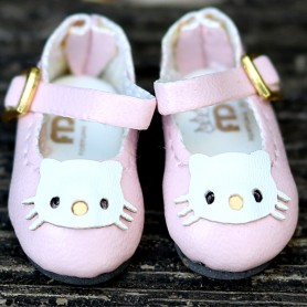 HELLO KITTY PINK HAND MADE SHOES FOR BJD DOLL LATI YELLOW BLYTHE MEADOWDOLLS TWINKLES LATI YELLOW PULLIP