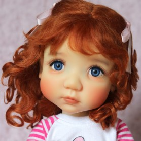MOHAIR RED JOSEPHINE WIG 10-11 FOX RED FOR BLYTHE AND NEO BLYTHE DOLLS