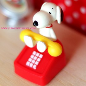 TELEPHONE VINTAGE SNOOPY MINIATURE POUPÉE NENDOROID STODOLL OB11 BARBIE BJD DOLLS BLYTHE PULLIP DIORAMAS PLAYSCALE DOLLHOUSE
