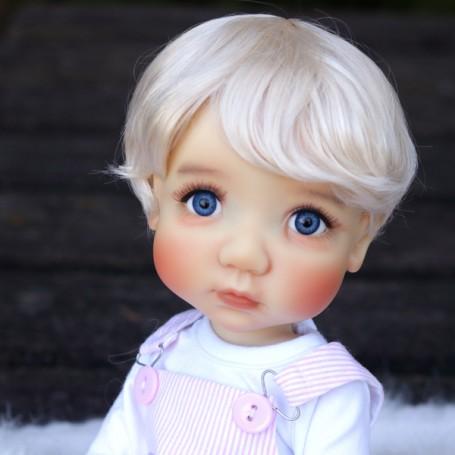 """DOLL WIG MIXTE GIRL OR BOY BLOND BABY 10.11"""" BJD MEADOWDOLLS MAE ADRYN BLYTHE CUSTOM DOLLS"""