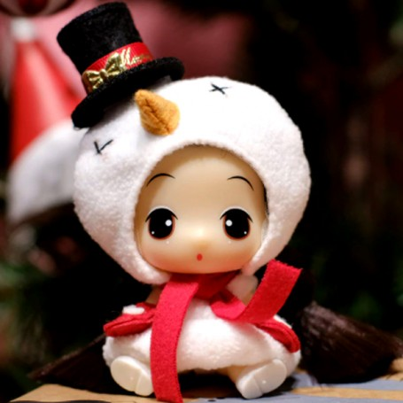 """LOVELY TINY DOLL 9 CM (3.5"""") GREAT CHRISTMAS GIFT IN HER CLEAR BIG BALL FOR THE TREE AND DECORATIONS OR JUST TO PLAY"""