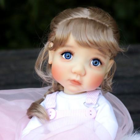 "VENUS GINGER 6.7"" DOLL WIG FOR BJD YOSD MUDOLL DOTORIES MEADOWDOLLS CHIBBIS BLEUETTE IPLEHOUSE LITTLE FEE UNOA PATSY ..."