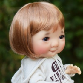 "BOBBY BOB 6.7"" DOLL WIG FOR BJD YOSD MUDOLL DOTORIES MEADOWDOLLS CHIBBIS BLEUETTE IPLEHOUSE LITTLE FEE UNOA PATSY ..."