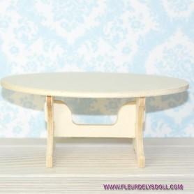 TABLE BASSE BARBIE FASHION ROYALTY BLYTHE PULLIP MOMOKO MONSTER HIGH DOLLHOUSE DIORAMA 1/6