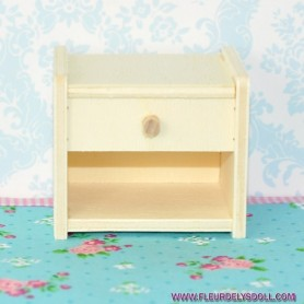 TABLE DE NUIT BOIS MINIATURE BARBIE FASHION ROYALTY BLYTHE PULLIP MOMOKO MONSTER HIGH DOLLHOUSE DIORAMA 1/6