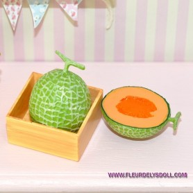 MELON FRUIT MINIATURE BARBIE FASHION ROYALTY BJD MOMOKO BLYTHE PULLIP MONSTER HIGH LATI YELLOW DOLLHOUSE 1/6