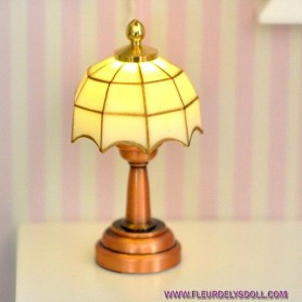MINIATURE LED LAMP MALORY LATI YELLOW BARBIE FASHION ROYALTY BLYTHE PULLIP DOLLHOUSE 1:6 1:12