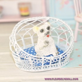 LOVELY DOG MINIATURE LATI YELLOW PUKIFEE BJD BARBIE FASHION ROYALTY SILKSTONE BLYTHE PULLIP DIORAMA