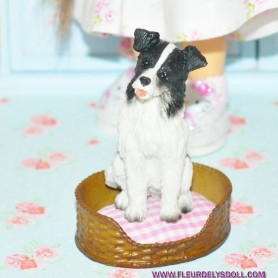 ADORABLE CHIEN SETTER GORDON MINIATURE BARBIE FASHION ROYALTY LATI YELLOW PUKIFEE BJD BLYTHE PULLIP DOLLHOUSE DIORAMA