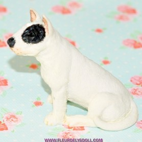 CHIEN BULL TERRIER MINIATURE BARBIE FASHION ROYALTY LATI YELLOW PUKIFEE BJD BLYTHE PULLIP DOLLHOUSE DIORAMA