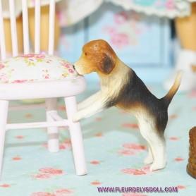 NOSEY BEAGLE PUPPY DOG MINIATURE BARBIE FASHION ROYALTY LATI YELLOW PUKIFEE BJD BLYTHE PULLIP DOLLHOUSE DIORAMA DOLL