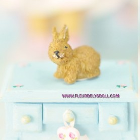 RABBIT BUNNY MINIATURE BARBIE FASHION ROYALTY LATI YELLOW PUKIFEE BJD BLYTHE PULLIP DOLLHOUSE DIORAMA DOLL