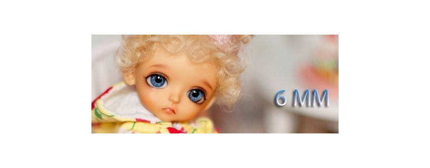 YEUX BJD 6 MM : LATI WHITE, LATI WHITE SP, PUKIPUKI...