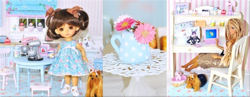 Miniatures pour poupées de collection, maison de poupée