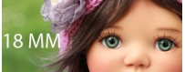 YEUX BJD 18 MM : MY MEADOWS SAFFI BAILEY REBORN DOLL...