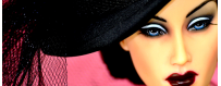 chapeau pour poupée Barbie Fashion Royalty